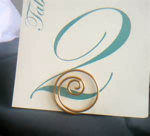 items similar to gold table number card holders wedding decorations 7 on etsy