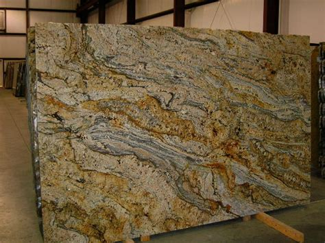 Outdoor Kitchen Countertop Ideas golden cascade granite slab 24466