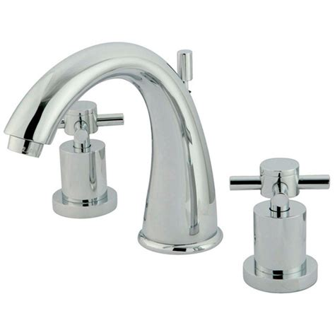 Modern Bathroom Faucet Widespread Kingston Brass Modern 8 In Widespread 2 Handle Mid Arc