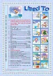 Printable Grammar Worksheets English Teaching Worksheets Past Habits Used To