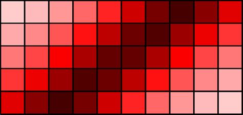 shade of red 50 shades of red
