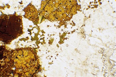 nepheline in thin section rocks of nw scotland rock sle images