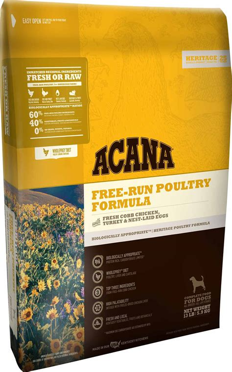 acana puppy food acana free run poultry grain free food made in usa