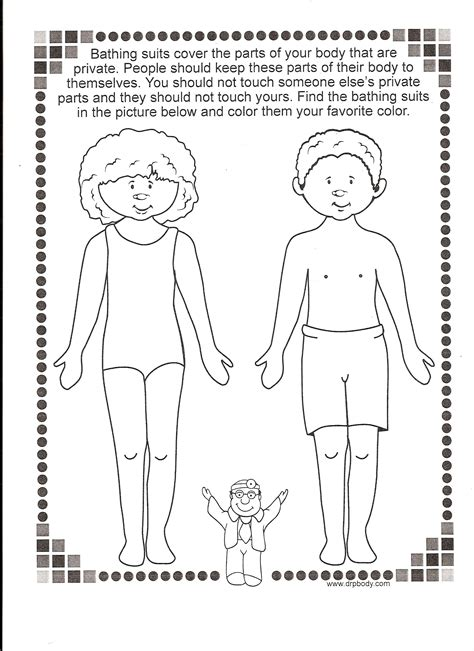 coloring pages for child abuse prevention keepyourbodysafe keensmell