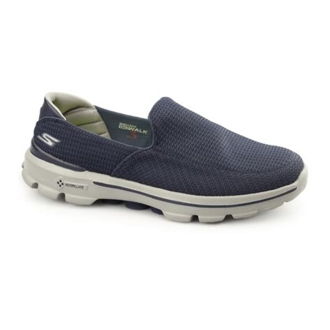 Sepatu Skechers Go Walk 3 Navy Slip On Premium Import Size 37 41 skechers go walk 3 mens slip on walking trainers shoes