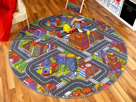 teppiche 3d optik kinder spiel teppich stra 223 enteppich 3d big city grau rund