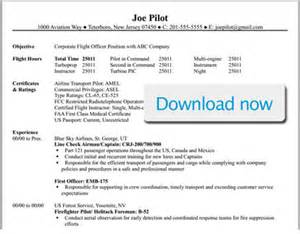 Resume Samples Airline Jobs by Professional Pilot Resume Template Bizjetjobs Com