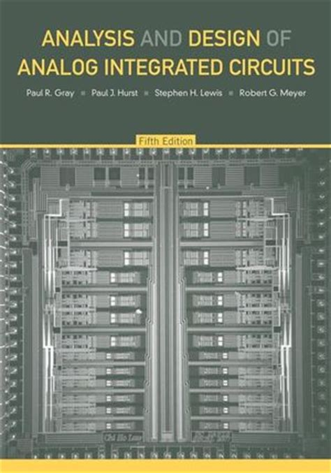 wiley analysis and design of analog integrated circuits 5th edition paul r gray paul j