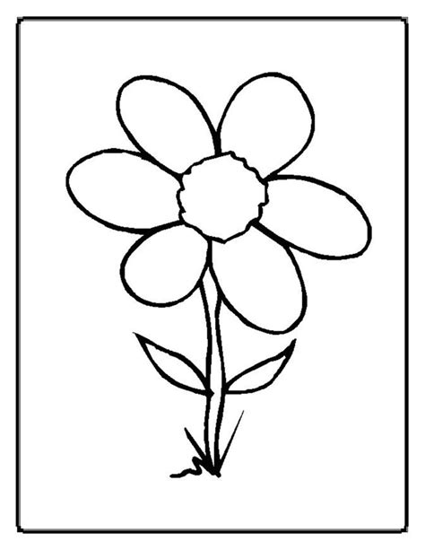 Flowers Coloring Pages Coloring Ville Flower Coloring Pages