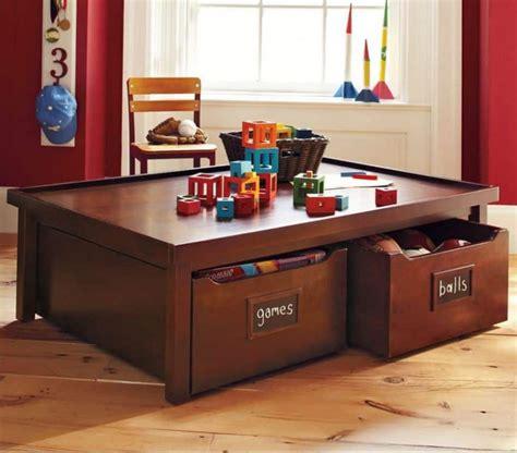 children s activity table with storage design with in mind best storage ideas
