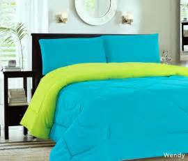 home design bedding down alternative down alternative reversible comforter turquoise lime