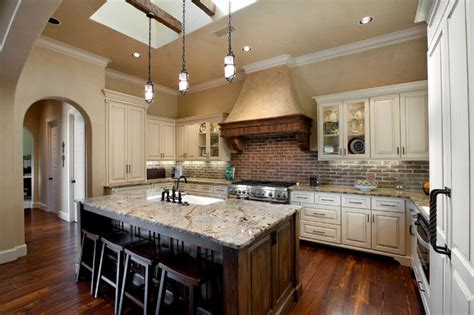 gourmet kitchen island gourmet kitchen with island mediterranean kitchen dallas by builders