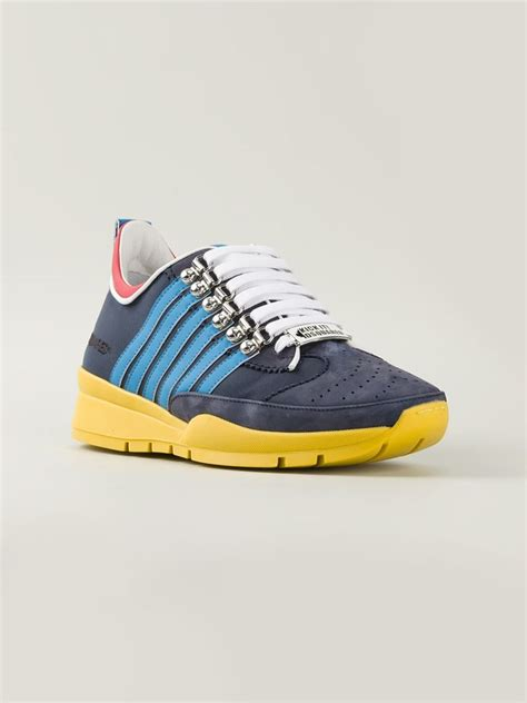 Sneakers Kets Stripe 2 Terlaris dsquared 178 appliqu 233 stripe sneakers in blue for lyst