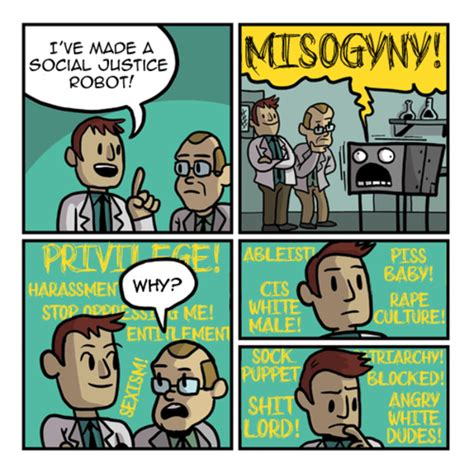 Social Justice Memes - robot that screams misogyny social justice blogging