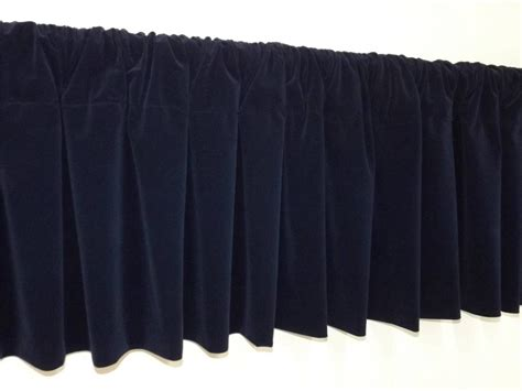 curtain topper window treatment navy blue rod pocket curtain topper