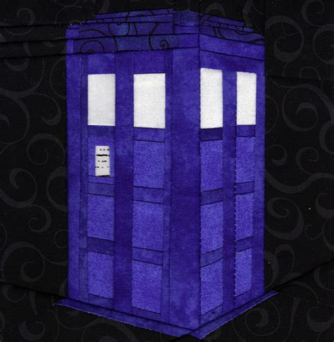 Tardis Quilt Block by Fandom In Stitches What S The Plural Of Tardis