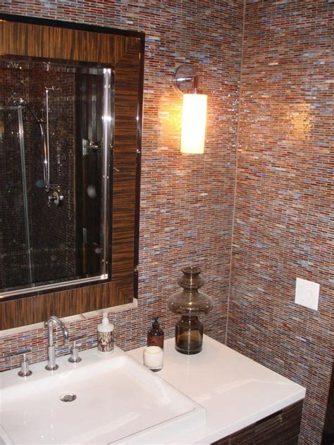 Glass Tile For Bathrooms Ideas by 30 Interesting Ideas Glass Tile Accent Wall Bathroom