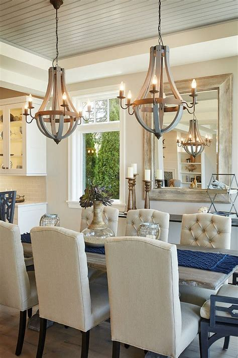 beautiful wooden dining room chandeliers