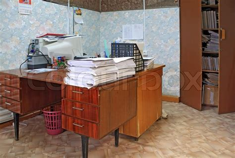 Heap Office by Heap Of The Papers On Table In Office Stock Photo