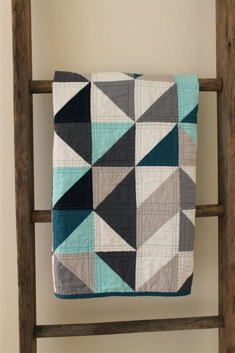 geometric pattern quilt grey and blue geometric quilt i love the machine