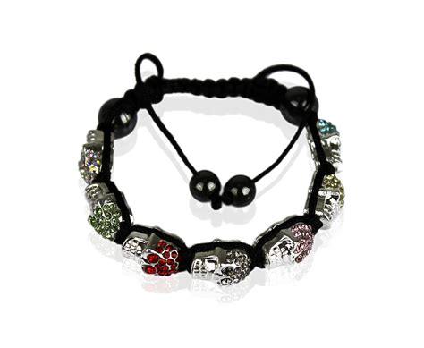 skull bead bracelet wholesale multi coloured skull bracelet