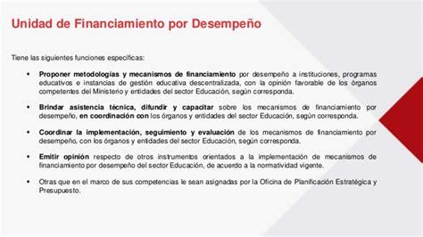 unidades didacticas comunicacion ministerio educacion peru incentivos en educaci 243 n unidad de financiamiento por