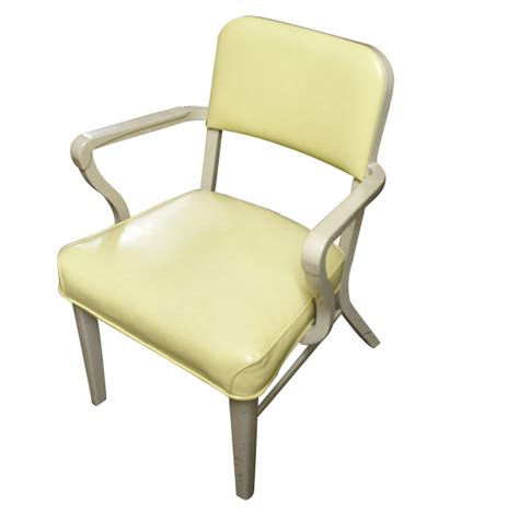 Metal Retro Chairs by Vintage Steelcase Metal Upholstered Arm Chair Retro Ebay