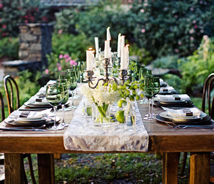 outdoor table setting dining table outdoor dining table decorations