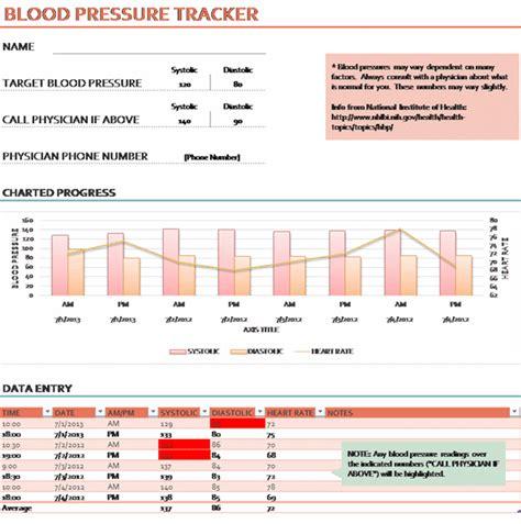 blood pressure cards template ms excel blood pressure tracker template printable