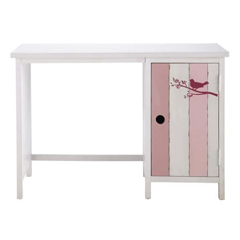 Wooden Child S Desk In Pink And White W 110cm Violette White And Pink Desk