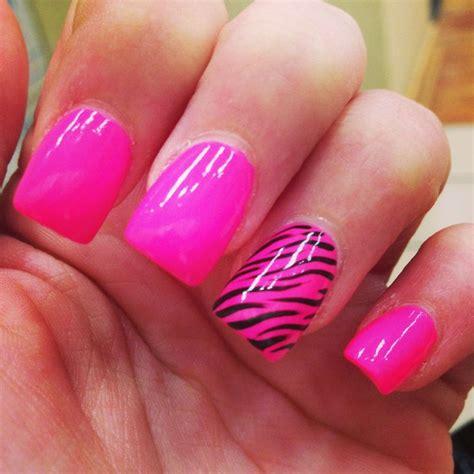 Black And White Zebra Nail Designs