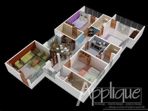 3d floor plan roof cut view 05 by jons3d on deviantart roof cut floor plan view1 by jons3d on deviantart