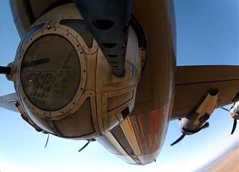 The Aviationist » Watch this: GoPro video shows the point ... B 24 Ball Turret