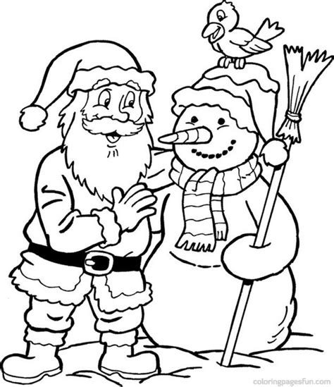 coloring page for santa snowman santa coloring page christmas coloring pages of