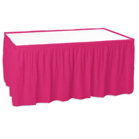 table skirt pink table accessories amols