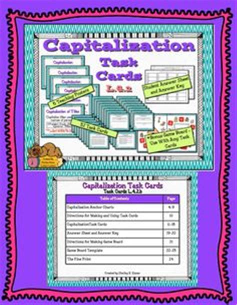 Task Card Answer Sheet Template by 1000 Images About L 3 2 A Capitalize Titles On