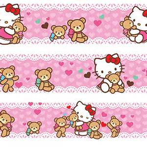 hello kitty quot loves bears quot wall border great kidsbedrooms