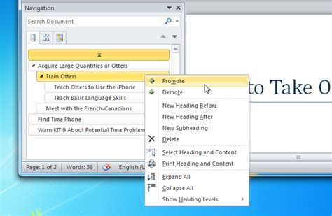 membuat navigation pane di word use the navigation pane in word to easily reorganize documents