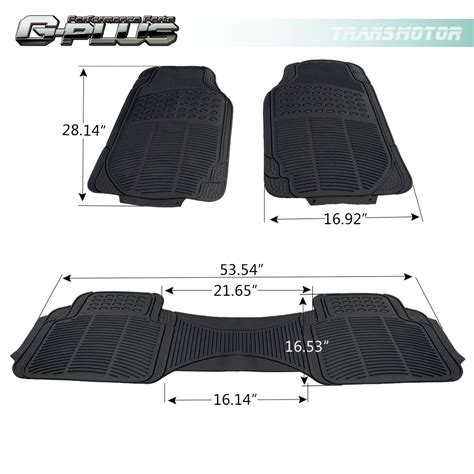 Custom Rubber Floor Mats For Trucks by 3pcs Car Truck Suv Custom Pvc Rubber Floor Mats Carpet