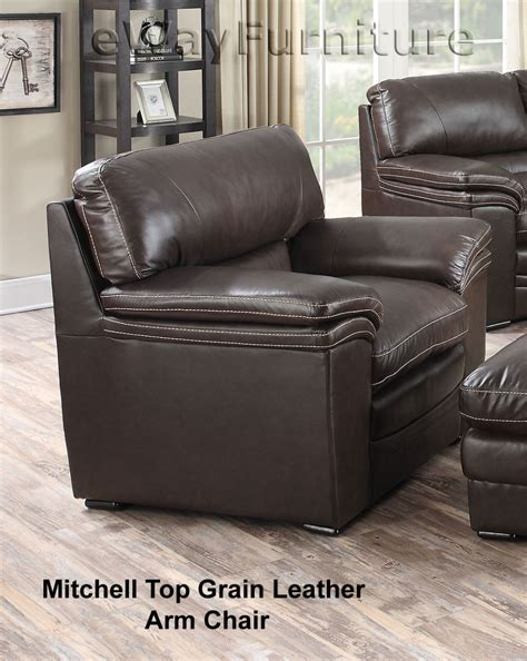 Grain Leather Chair by Mitchell Top Grain Leather Arm Chair