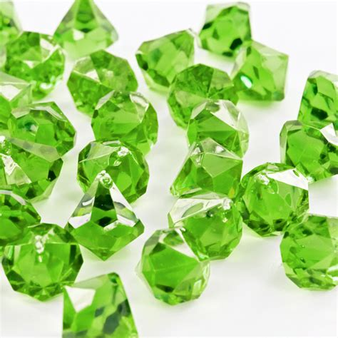 Fake Water For Vase Thick Green Acrylic Large Diamonds Decorative Gems