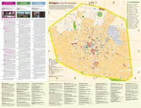 map of bologna bologna city centre map