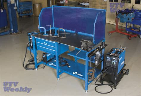 miller welding bench the first ever all in one workstation for welding and metalworking arcstation utv