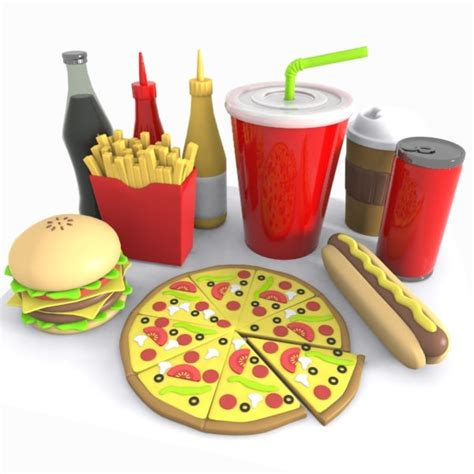 Bantal Snack Bantal Model Snack 3d model of junk food