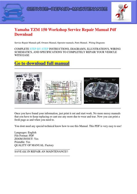 yamaha tzm 150 workshop service repair manual pdf