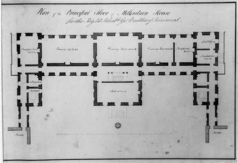 Floorplan Of A House by Robert Adam Designs In The Castle Style Mellerstain House