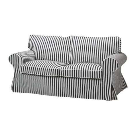 black and white striped couch new ikea ektorp sofa bed slipcover cover vallsta black