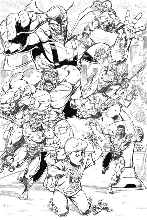 coloring pages of marvel zombies marvel zombies rough pencils by charlesettinger on deviantart