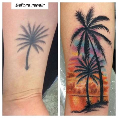 palm tattoo designs palm trees tattoos palm and tatting