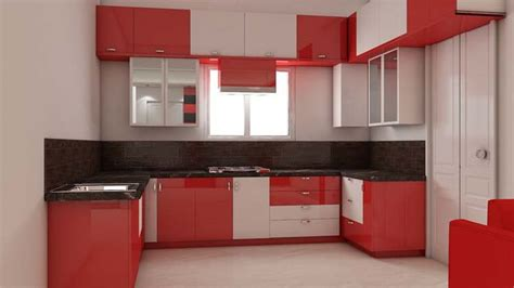 interior decoration in kitchen simple kitchen interior design for 1bhk house with bright color